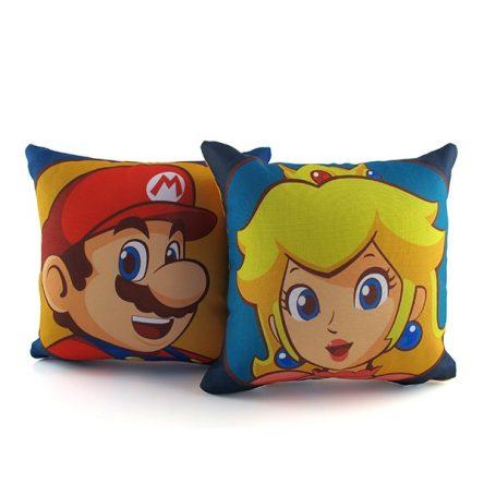 Kit Mini Almofadas Mario e Peach – Super Mario Bros.