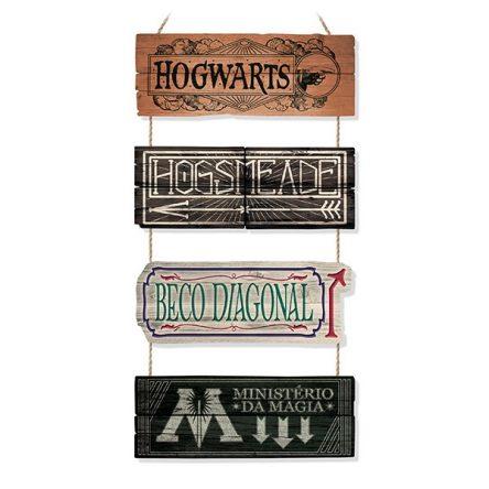 Placas de Direção dos Lugares Mágicos – Harry Potter