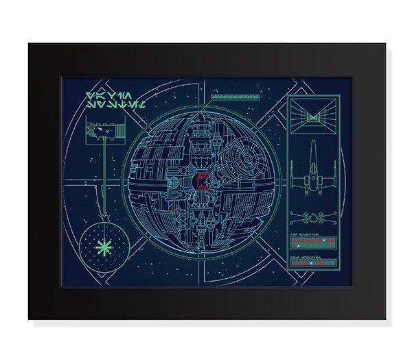 Poster Planta de Ataque da Estrela da Morte – Star Wars
