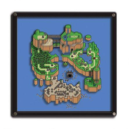 Quadro 3D Mapa Super Mario World – Super Mario Bros.