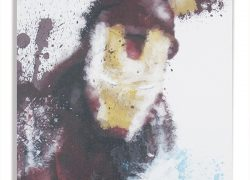 Tela de Aquarela do Homem de Ferro – Marvel