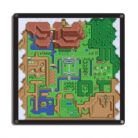 Quadro 3D Mapa A Link to The Past – The Legend of Zelda